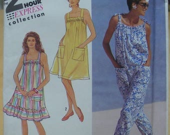 Free shipping! Simplicity 7277 Sun dress and jumpsuit sewing pattern All sizes UNCUT