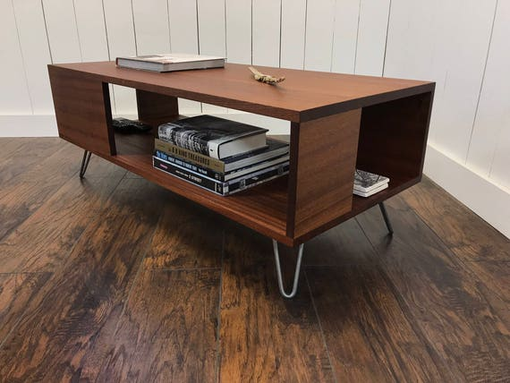 Fat Boy mid century modern coffee table with storage
