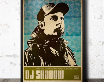 DJ Shadow Hip Hop Poster