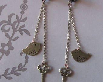 Earrings vintage and romantic