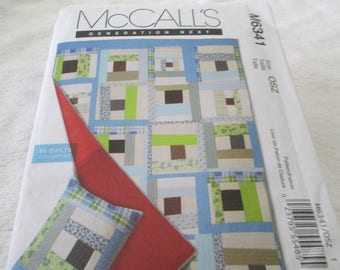 Paper Pattern for a quilt and sham by Denyse Schmidt for McCalls Twin size