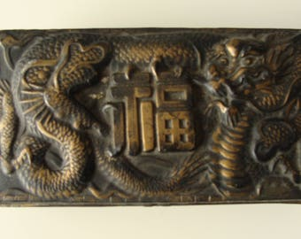 Vintage Japanese Box with a Dragon Design