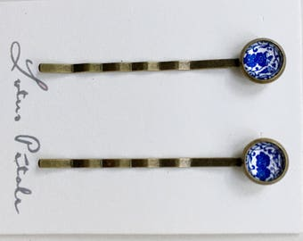 Hair Pin- Bobby Pin, Blue Hair Pin, Blue Bobby Pin, Hair Clip, Pretty Bobby Pin, Fancy Bobby Pin, Something Blue, Stocking Stuffer for her