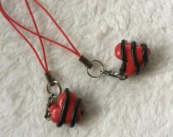 Heart Best friends key chains