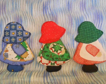 Sun Bonnet Sue #3D Doll Figures-Handmade