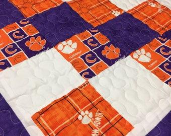 Clemson University Baby Quilt