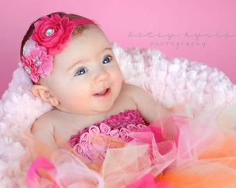 Baby Headband, Shades of Pink Baby Headband, Infant Headband, Newborn Headband, Baby Headband, Girls Headband, Pink Baby Headband