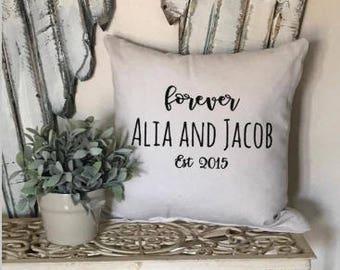 forever pillow, wedding gift, anniversary gift