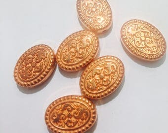 Vintage metal lucite copper beads 5 for 2.99