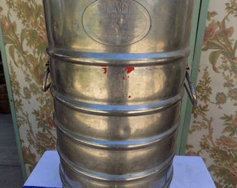 Vintage AerVoid Stainless Steel  Five Gallon Insulated Container Hot or Cold