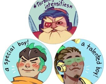 "Overwatch 2 1/4"" Buttons"