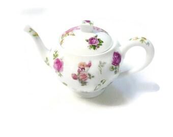 Limoges porcelain rose garden teapot