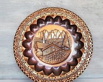 Copper Wall Plates Decorative Delectable Copper Wall Plates Etsy 2017 & Copper Wall Plates Decorative Cool Wall Plates Decorative Decorative ...
