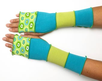 Mittens with thumbhole created by you 4 colors jersey cotton