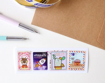 Set of 5 snail mail stickers