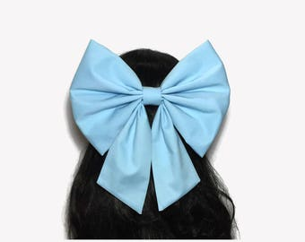 Ariel Hair Bow, Ariel cosplay, Mermaid Bow, Ariel Bow, Little mermaid Bow, Fabric Hair Bow, Ariel Blue Hair Bow, Kawaii Bow, Large Hair Bow