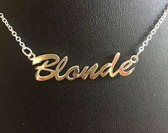 "16"" 'Blonde' necklace"