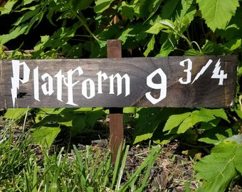 Harry pottery inspired wood signs/platform 9 3/4