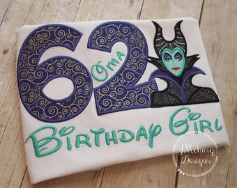 Disney-Inspired Maleficent Birthday Shirt - 16th - 21st - 40th - 50th - 60th - Custom Birthday Tee 578