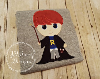 Ron Weasley Inspired Custom embroidered tee - Inspired Birthday Shirt 750b Ron