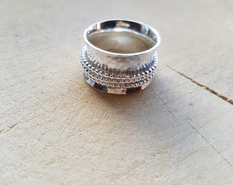 Sterling Silver Spinner Ring Thumb Ring