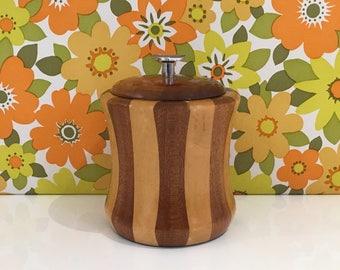 Retro Wooden Lancraft Ice Bucket Vintage Barrell Pot
