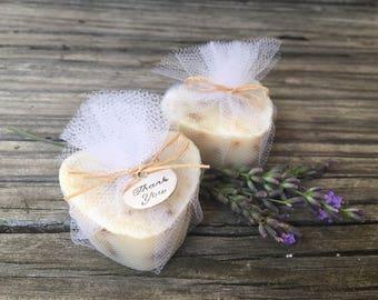 Unique Bridal Shower Favors, Heart Soap Wedding Favors, Bachelorette Party Favors, Lavender Milk Soap Favors 20