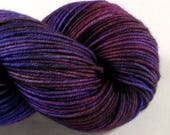 Hand Dyed Yarn - DK Light - Crimson Rambler