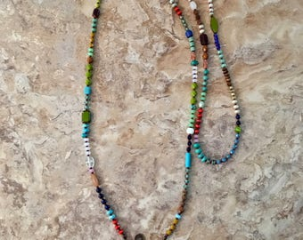 Long Multi-Colored Necklace