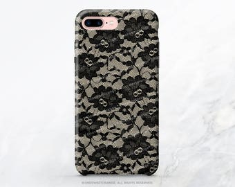 iPhone 8 Case iPhone X Case iPhone 7 Case Black Lace iPhone 7 Plus Case iPhone 6s Case iPhone SE Case Galaxy S7 Case Galaxy S8 Case T40