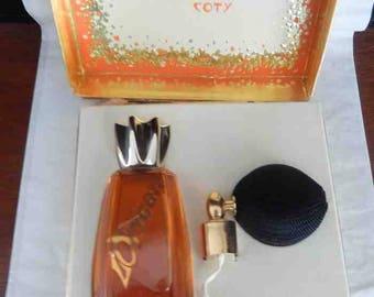 Vintage Coty L'Origan Perfum de Toilette Box Atomizer