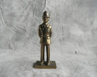 Brass British Policeman