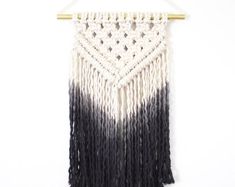 Charcoal Ombre/Macrame Wall Hanging/Weaving/Tapestry/Wall Hanging/Macrame Decor/Wall Art/Wall Decor