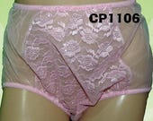 CLEARANCE******S&L Sheer Panties with Front Inserts