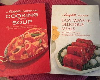 2  Vintage Campbells Soup Cookbooks