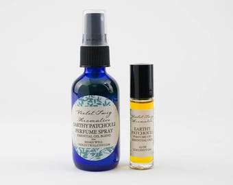 Natural Patchouli Perfume - Patchouli Cologne - Organic Patchouli Oil - Natural Cologne - Patchouli Essential Oil - Rollerball - Spray