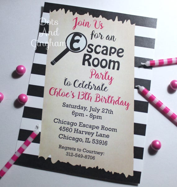 Escape room invitation escape room party scavenger hunt for Escape room party