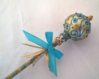 Blue and Gold Fairy Princess Wand