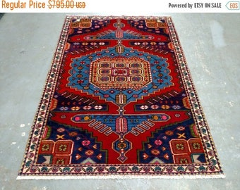 SUMMER CLEARANCE 1990s Hand-Knotted Wiss/Viss Persian Rug (3600)