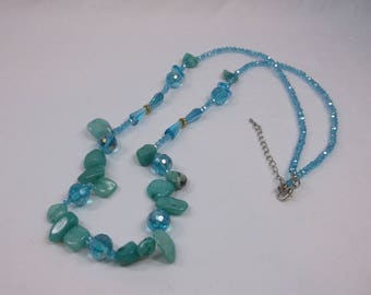 Russian Amazonite Gemstones on 32 inch Necklace - Free Shipping