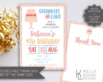 Sprinkles Birthday Invitation | Sprinkles Party | Printable Invitation | Sprinkles Invitation | Sweets Invitation | First Birthday  (171)