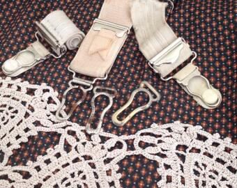 Suspenders vintage  clasp for repurpose altered art UK seller