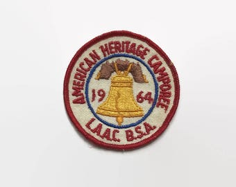 Vintage 60s BSA PATCH / 1960s American Heritage Camporee Patch Boy Scout