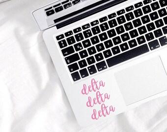 Delta Delta Delta Sticker - tri delt - Tri delt Decal - Sorority - Sorority Sticker - Decal - Laptop Sticker - Sorority - Greek Sticker -