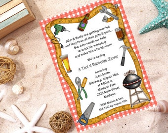 Handyman Invitation | Bridal Shower | Printable Editable Digital PDF File | Instant Download | WSI239DIY