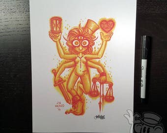 FLAME 8.5 x 11 Signed Artwork Print by Jin Wicked