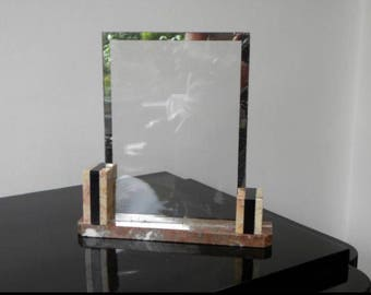 Original Art Deco photoframe with marble base