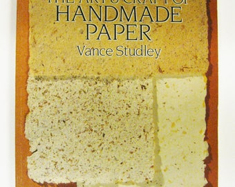 The Art & Craft of Handmade Paper Book by Vance Studley Destash DIY Instruction Book Scrapbooking Card Making Altered Book Making