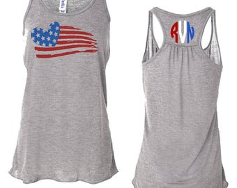 4th Flag Tank For Women, 4th of July Tank Top, Fourth of July, 4th Of July, USA, Patriotic Tank, 4th of July Shirt, American