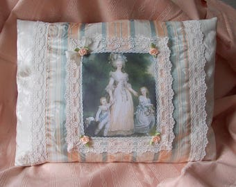 "PORTRAIT OF ""MARIE ANTOINETTE AND HER CHILDREN"" PILLOW"